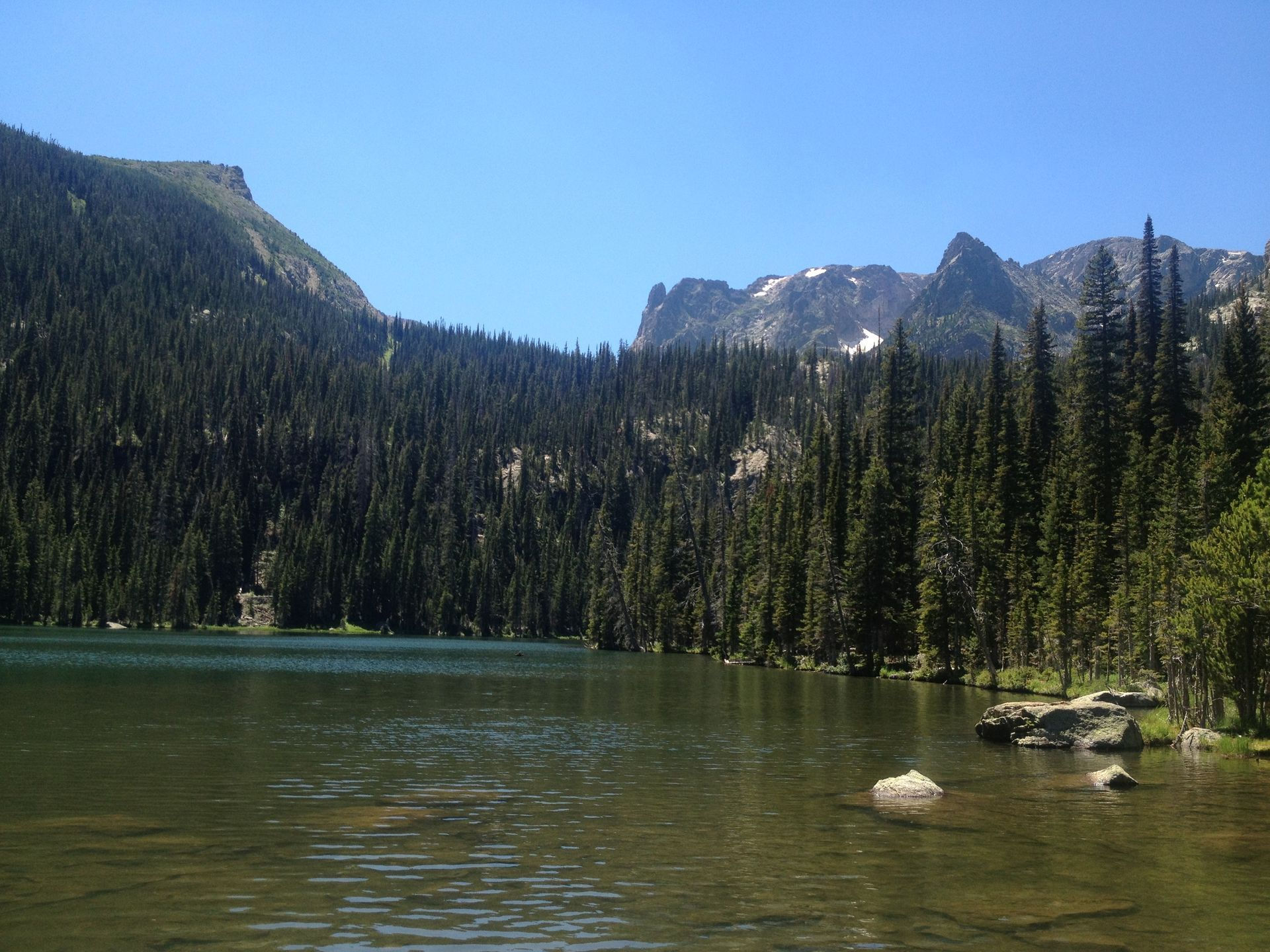 Popular with trout fishers and campers, Fern Lake is one of the most popular destinations in Rocky Mountain National Park.  National Park Service
