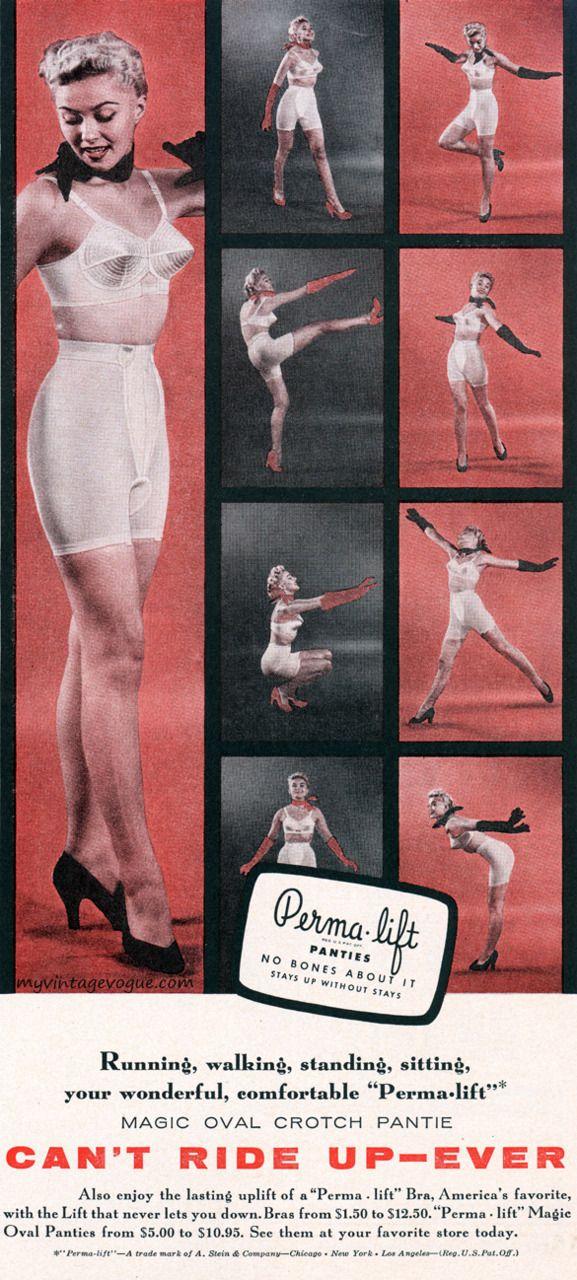 fd532e10abc Perma-lift 1955 panty girdle 50s photo print ad bra