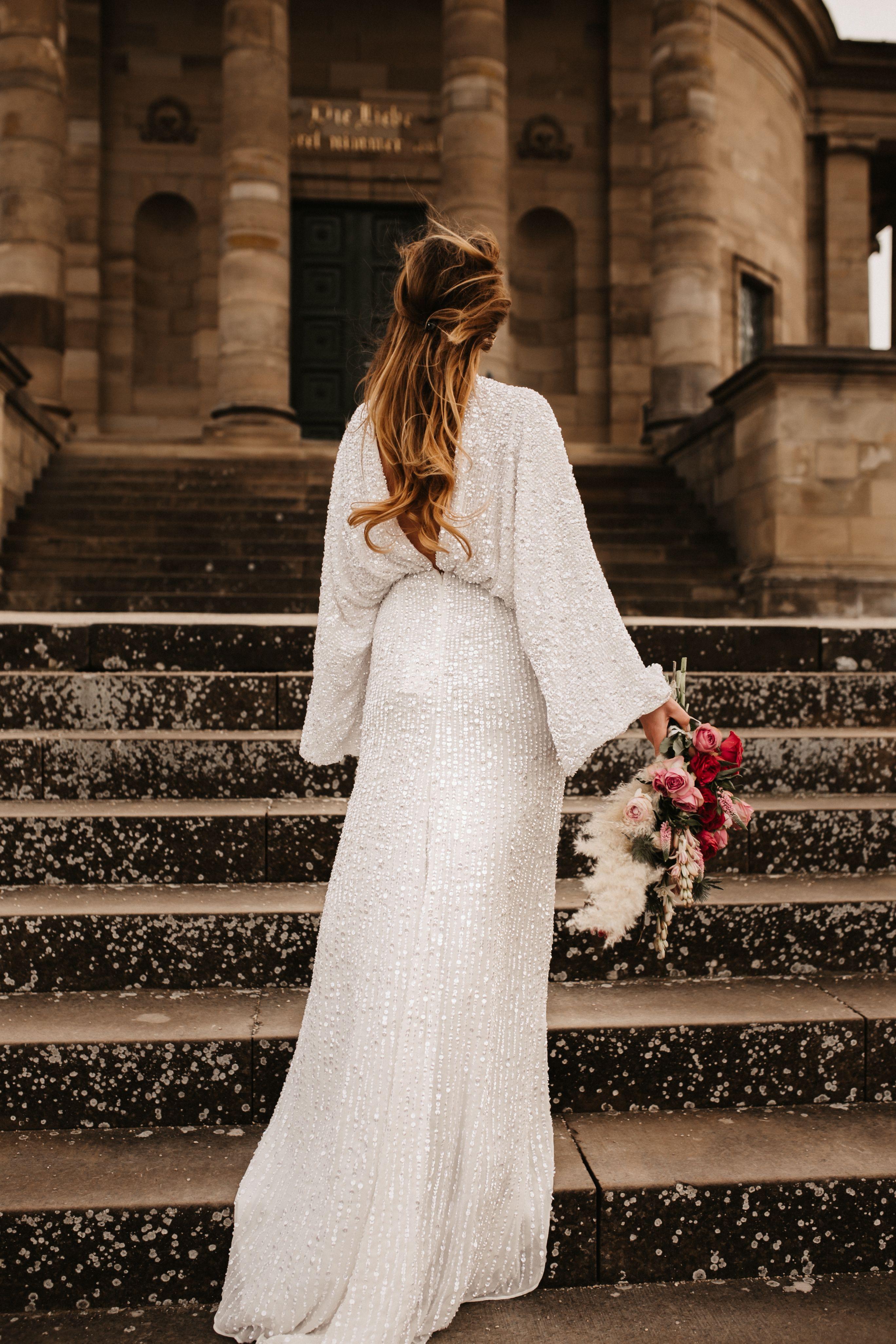 glitter wedding dress | brautkleid hippie, brautkleid