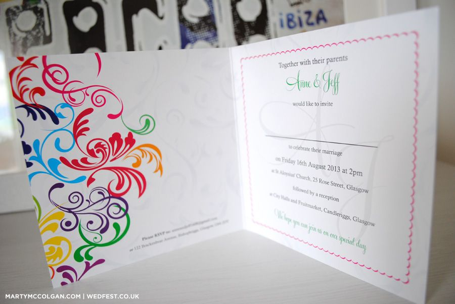 rainbow carnival wedding invitations - Rainbow Wedding Invitations