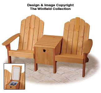 Cowboy Cooler Twin Seater Plans Adirondack Furniture