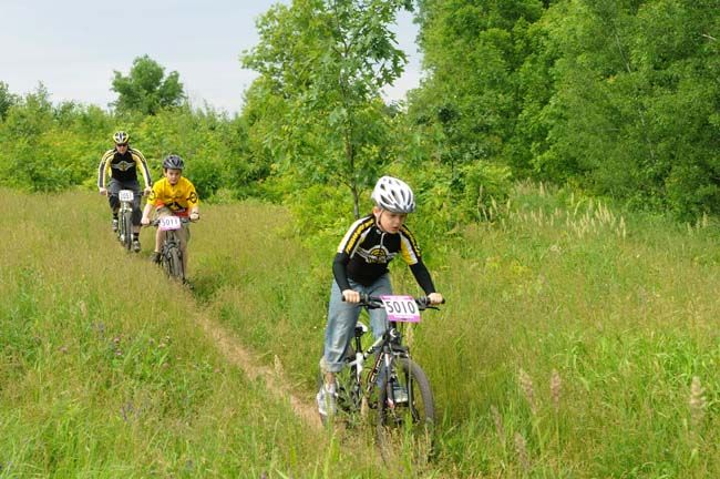 Mountain bike trails at Salem Hills Park, Inver Grove Heights