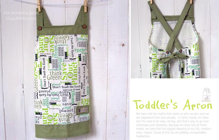 Andy Toddler\'s Apron PDF Pattern | Sewing | Pinterest | Apron, Kids ...