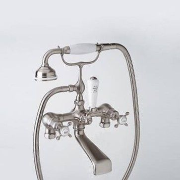 Rohl Perrin Rowe Exposed Mixer Clawfoot Tub And Shower Faucet   Traditional    Bathroom Faucets