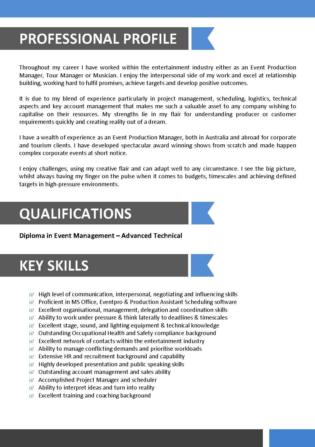 Sample Resume For Entertainment Industry Best Resume Template Sample Resume Templates Resume Template Free