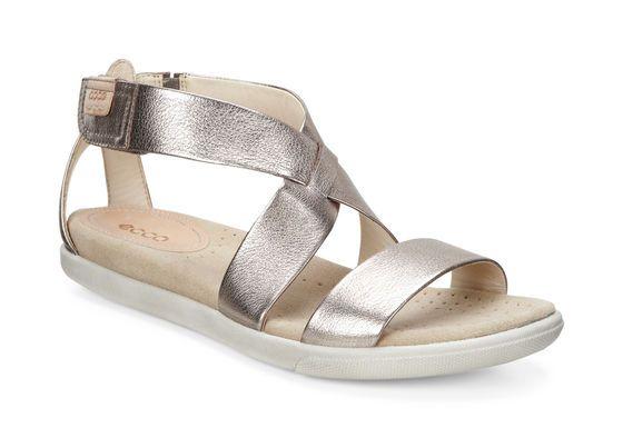 6a6ea2b7cd25 ECCO Damara Strap Sandal (WARM GREY METALLIC)
