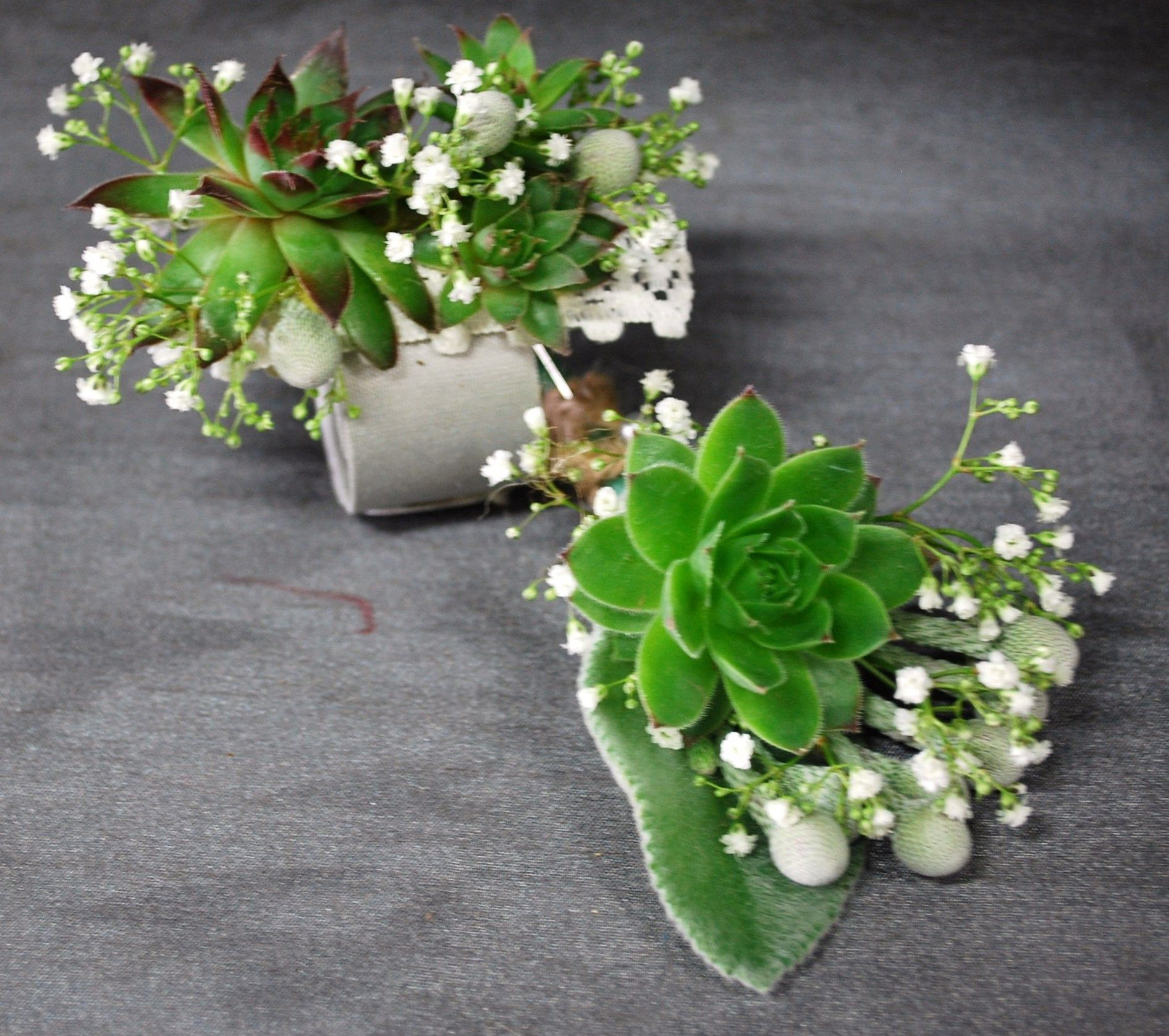 A Simple Succulent Corsages Design By Lili Schaap Wedding Flowers
