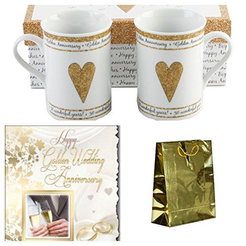 Golden Anniversary Gift Set The Big Card Company Amazon