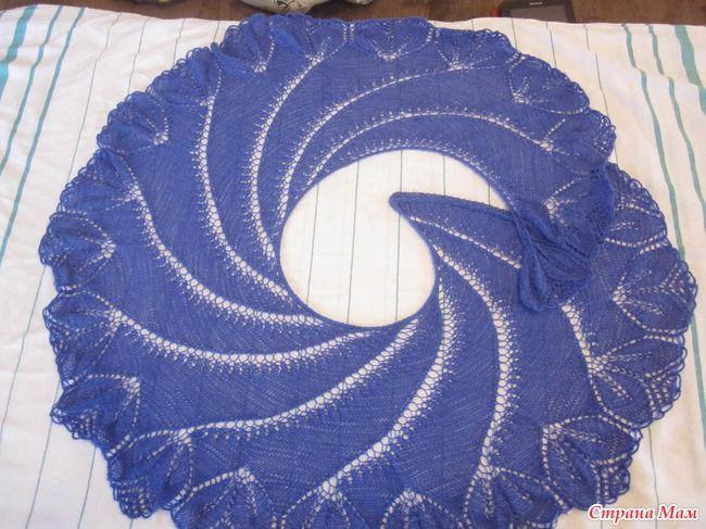 """Scialle """"Begonia vortice""""-line maglia con schemi"""