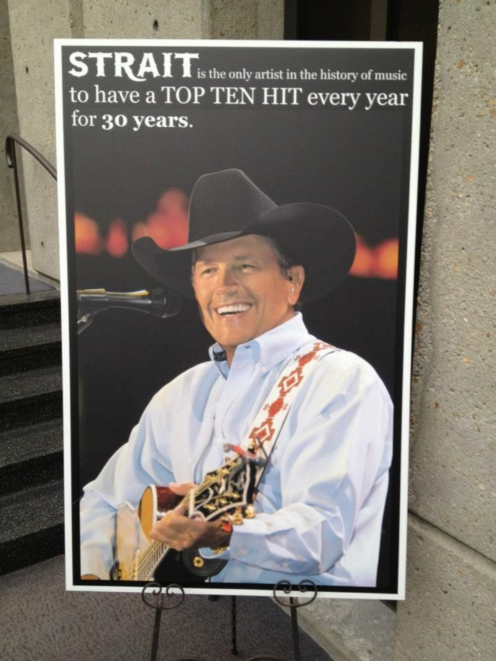 George Strait is the only artist in the history of music to have a top ten hit every year for 30 years.