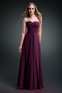 Strapless Dark Purple Bridesmaid Dress #PurpleBridesmai Dresses ...