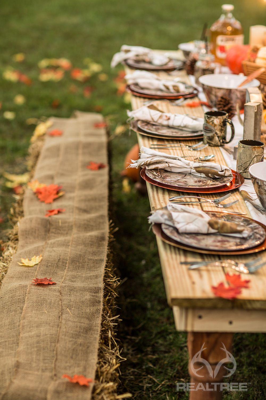 Realtree Camo Harvest Table Decoration  #Realtreelife #camodecoration