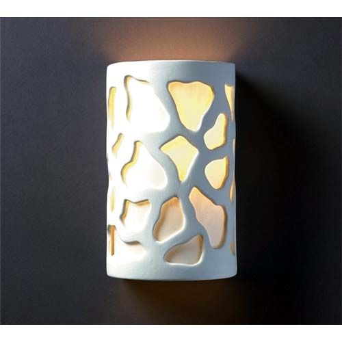 Ambiance Gloss White Small Cobblestones Bathroom Wall Sconce  In Extraordinary Small Wall Sconces For Bathroom 2018