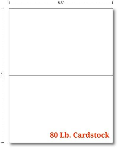 Amazon Com 80lb White Half Fold Greeting Cards Uncoated 5 5 X 8 5 Inches When Folded 100 Cards Office Products Greeting Cards Greetings Cards