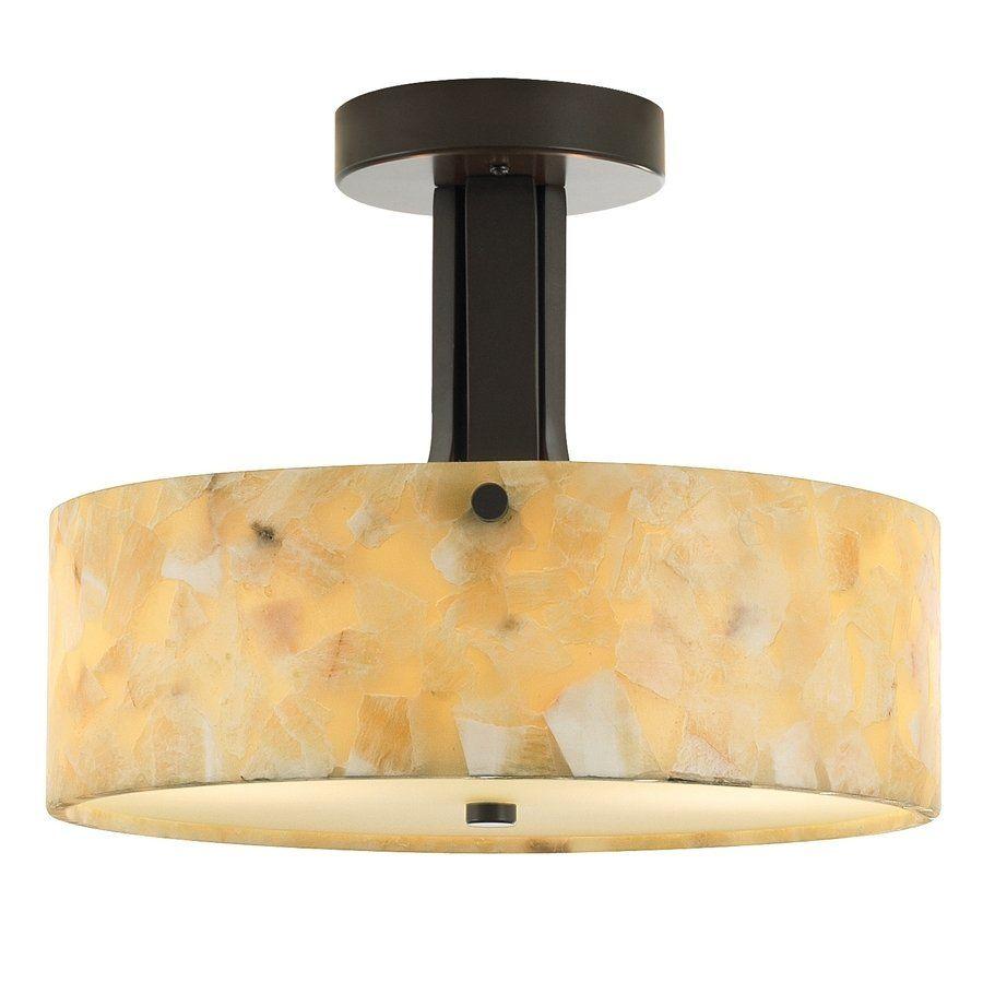 "tiella 12"" Bronze Natural Onyx Semi-Flush Mount Light - Lowe's Canada"