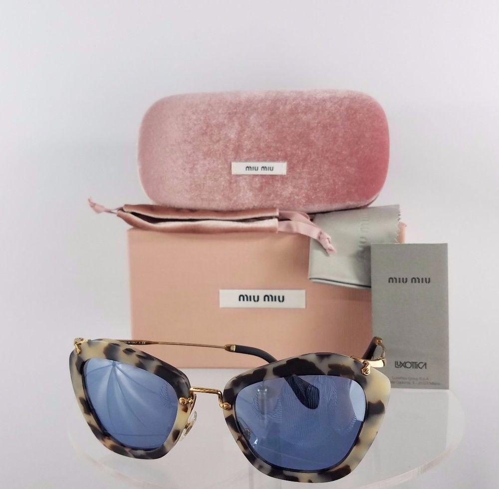 fb2172f1e9e Brand New Authentic MIU MIU SMU 10N HAO-4N0 Sunglasses Sand Havana ...