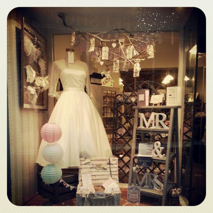 Wedding display windows new quirky wedding shop window for How to display a wedding dress
