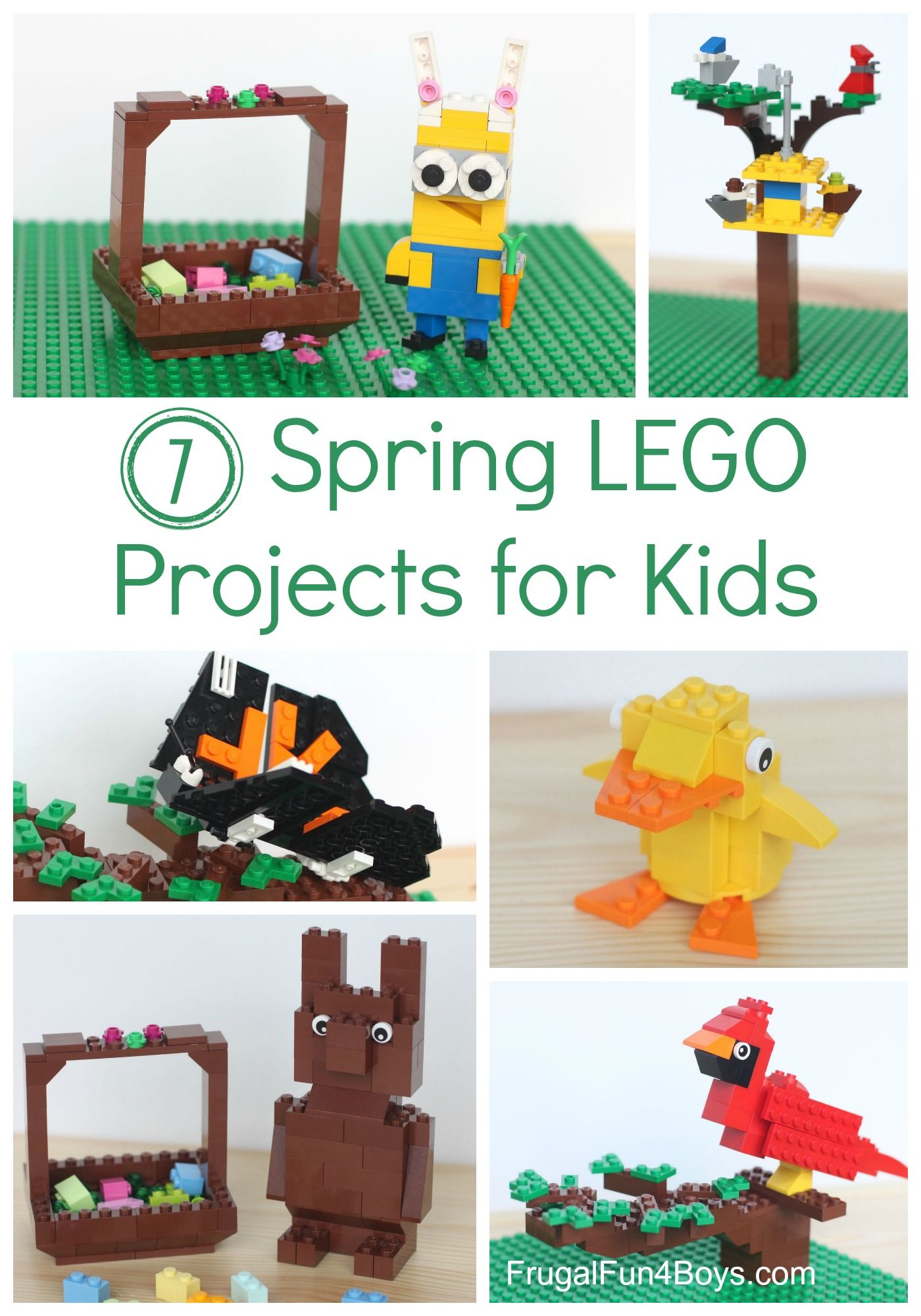 LEGO Easter Ducks with instructions Build Your Own!