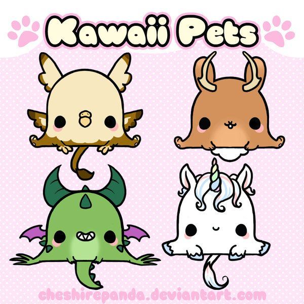 Kawaii pets remake 4 by on deviantart cute kawaii - Image kawaii a imprimer ...
