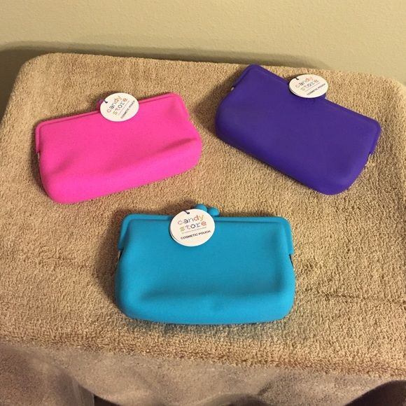 Candy store Bundle includes pink, purple, and aqua cosmetic pouch perfect for a gift. Candy Store  Bags Cosmetic Bags & Cases