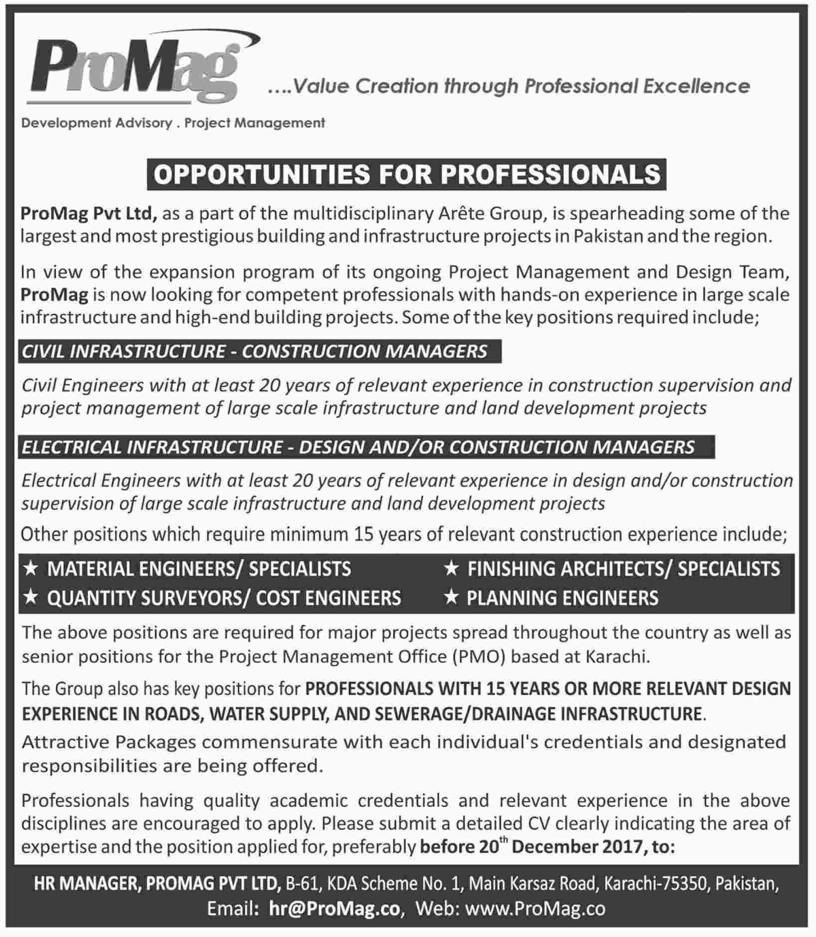 Promag Private Limited Jobs  In Karachi For Managers Http