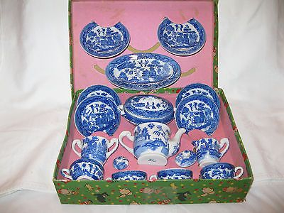 1950s willow pattern childs tea set - Google Search