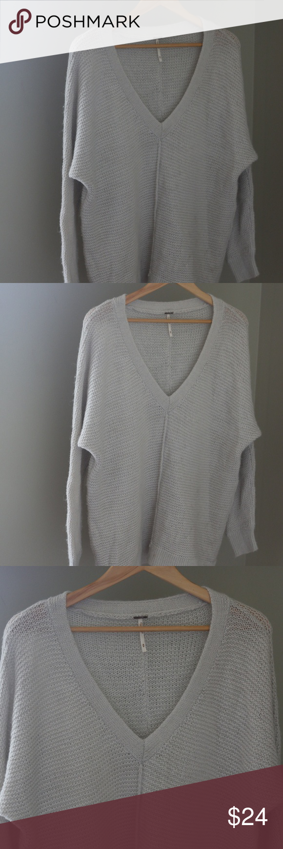 fc091aa64d9d8 Free People Oversized Slouchy Sweater Wool V Neck Free People Women s  Oversized Slouchy Sweater. Size