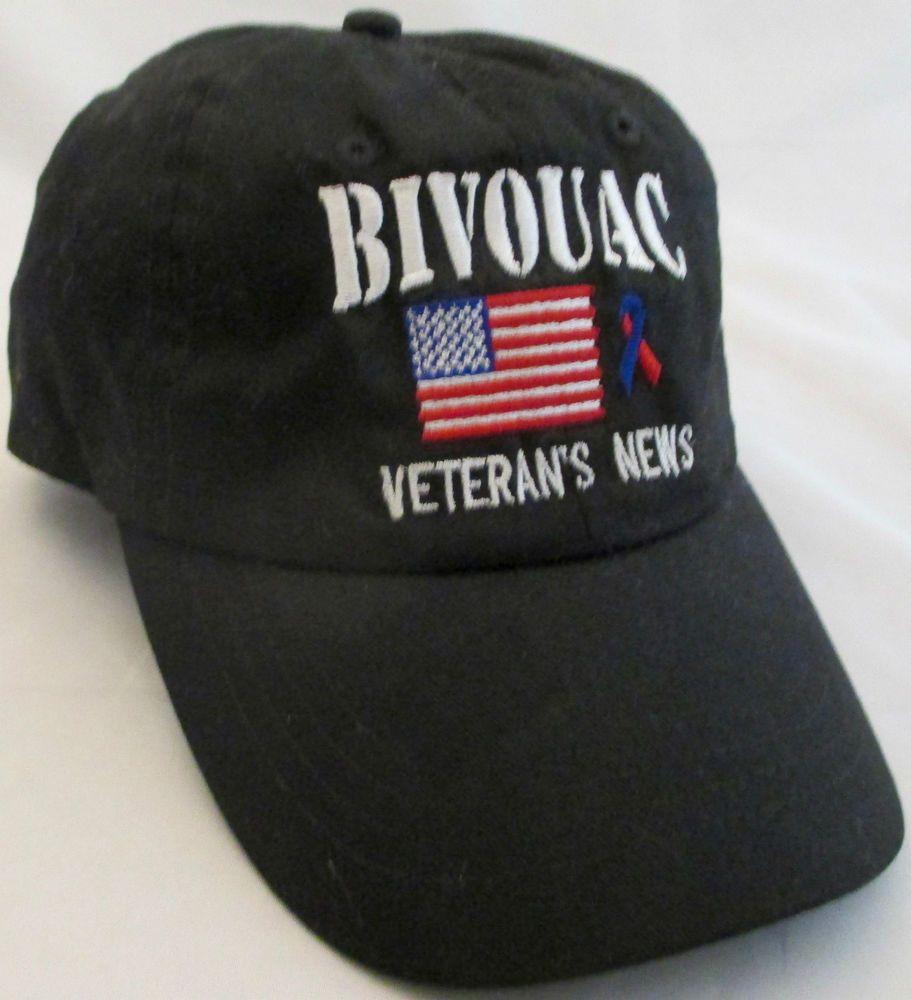 Bivouac veterans news pow mia black truckers hat otto