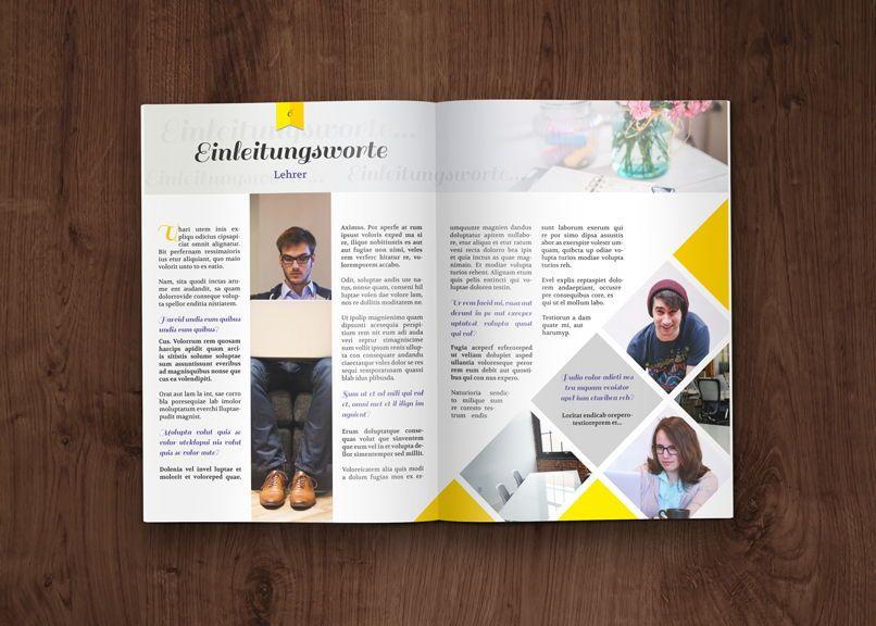Layout Vorlagen Schulerzeitung Abizeitung 8