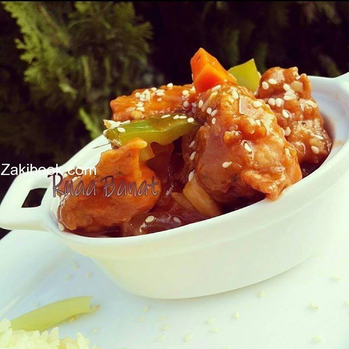 تشيكن سيزلنغ مودلز صيني تعال اتعلم أكل المطاعم زاكي Cooking Food Chicken Bacon