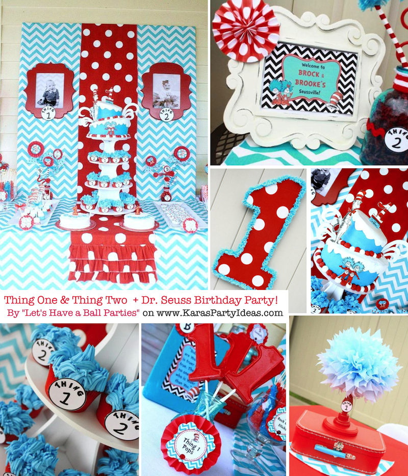 Dr Seuss Party Ideas Themed birthday parties Twins and Birthday