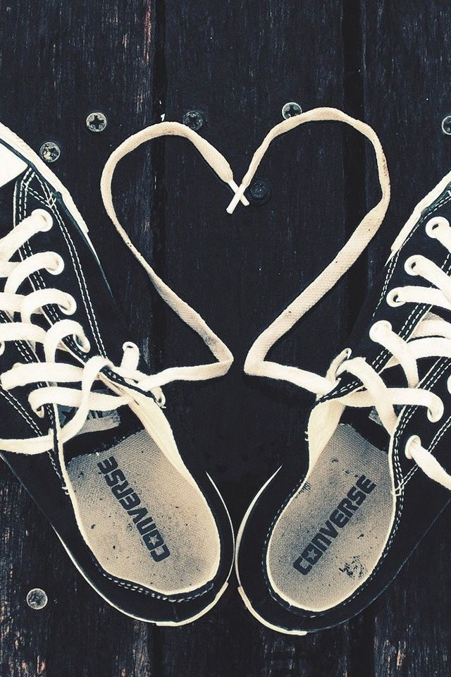 Converse hearts…. with the walking quote on a newspaper background ... b8a6080ff