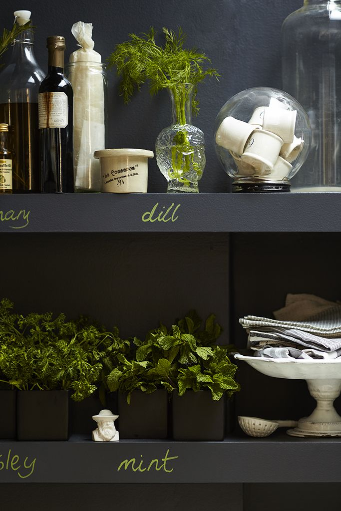 Organize your kitchen and moore with Benjamin Moore Chalkboard Paint!