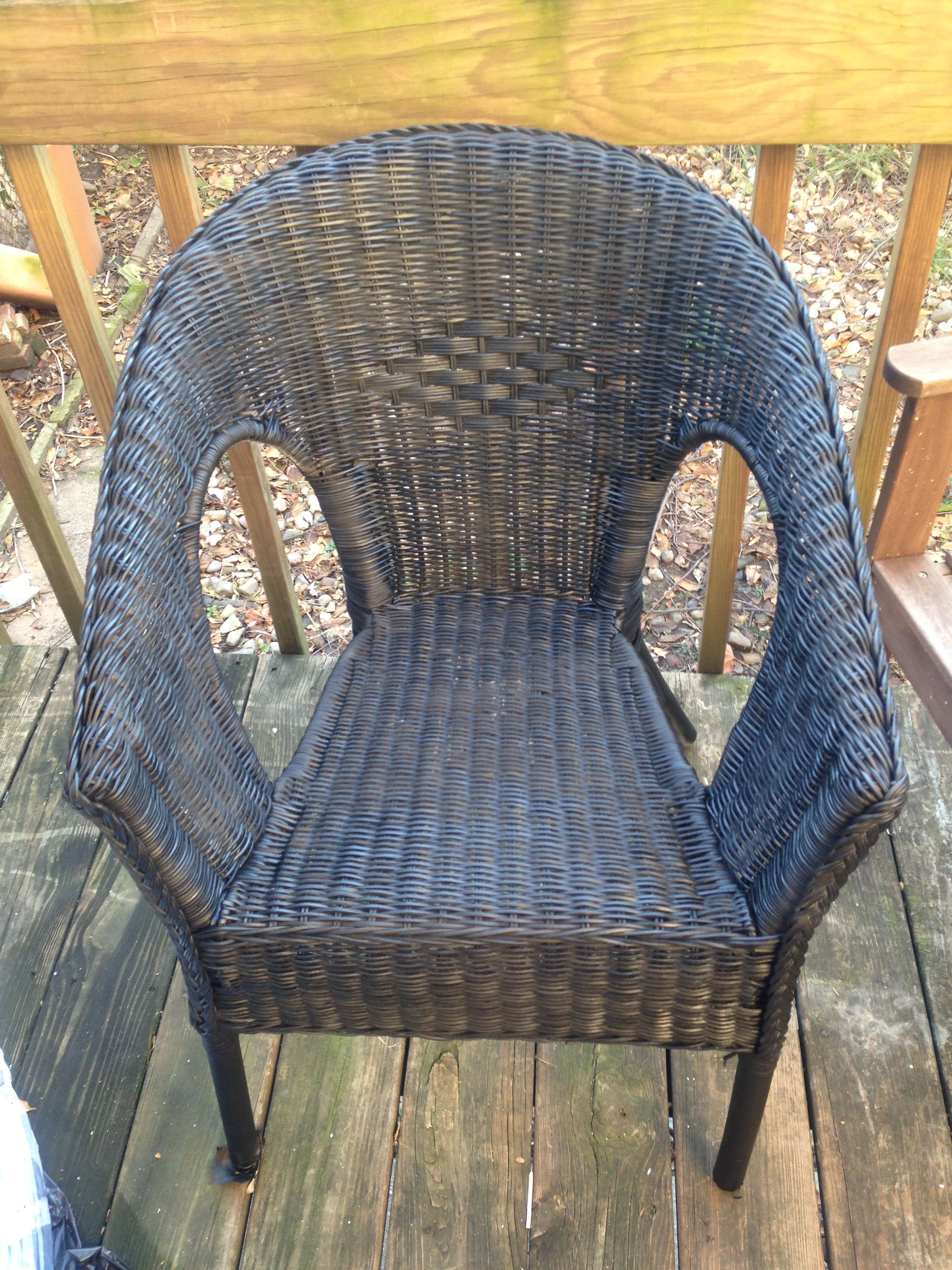 My ikea agen chair Rattan bamboo spray painted matte