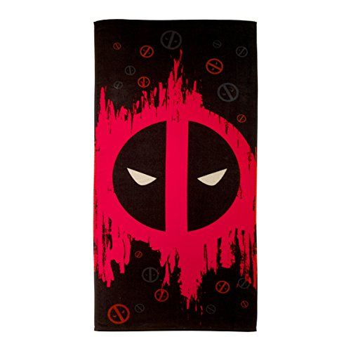 Marvel Deadpool Red Tex 100 Cotton 28 X 58 Plush Beachbath Towel Continue To The Product At The Image Link Note I Logo Towels Beach Towel Beach Bath Towels