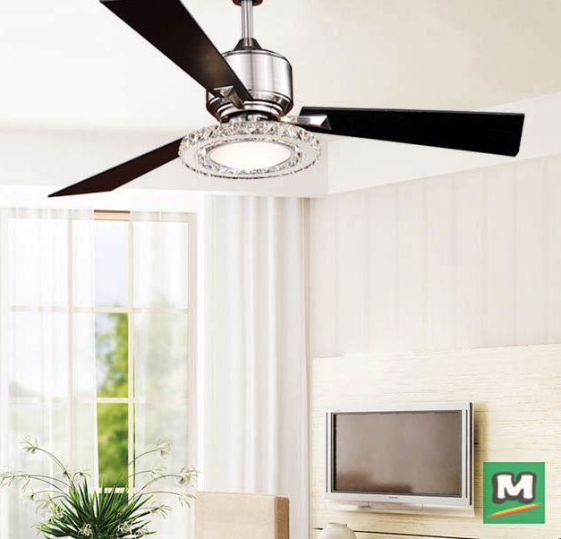 This Contemporary Turn Of The Century 52 Crescent Led Ceiling Fan