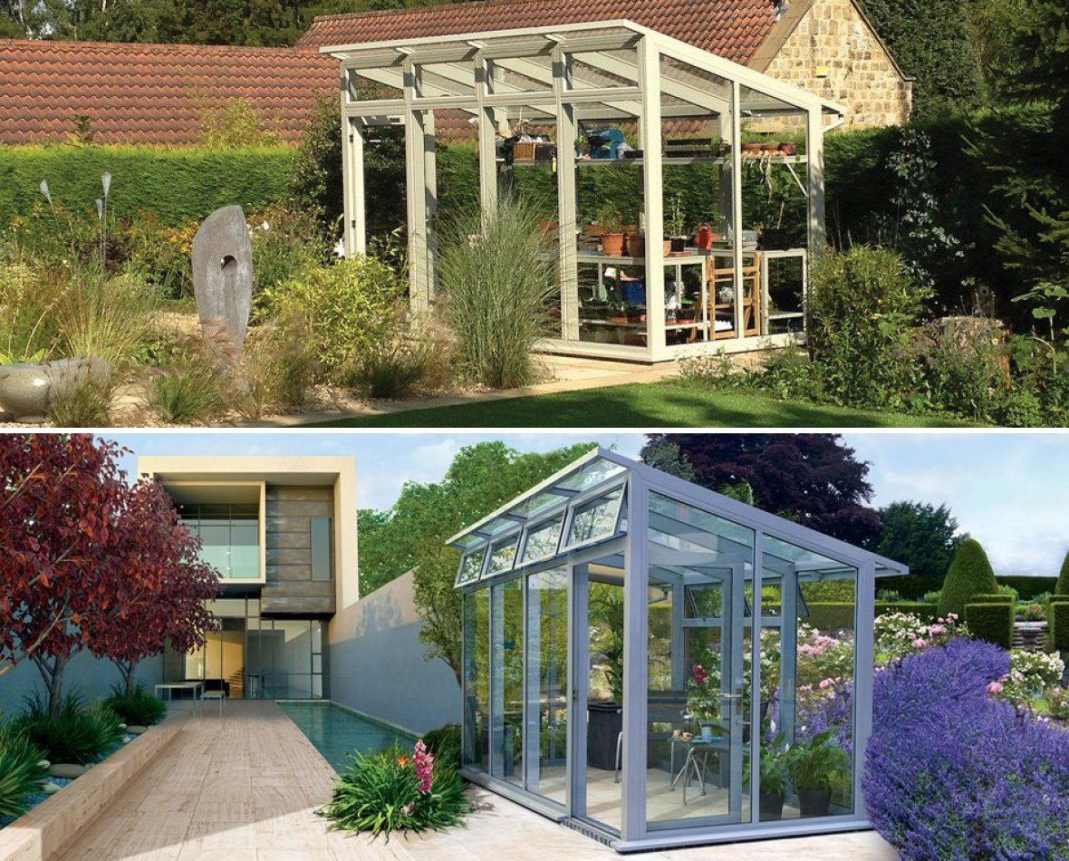 Modern greenhouse opus from hartley botanic is perfect as a she shed