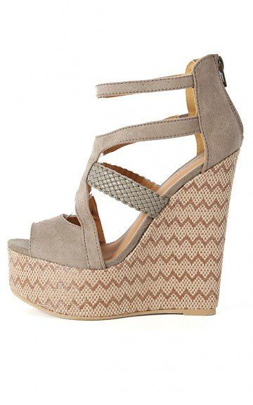 Qupid Florence-34 Woven Strappy Wedges   MakeMeChic.com on Wanelo