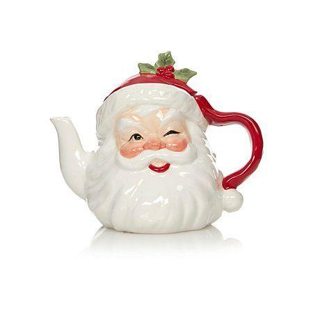 Santa George Home Santa Shaped Teapot Tea Pots