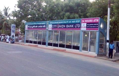 Ac Bus Stop In Kumbakolum In Tamil Nadu India Bus Stop Union