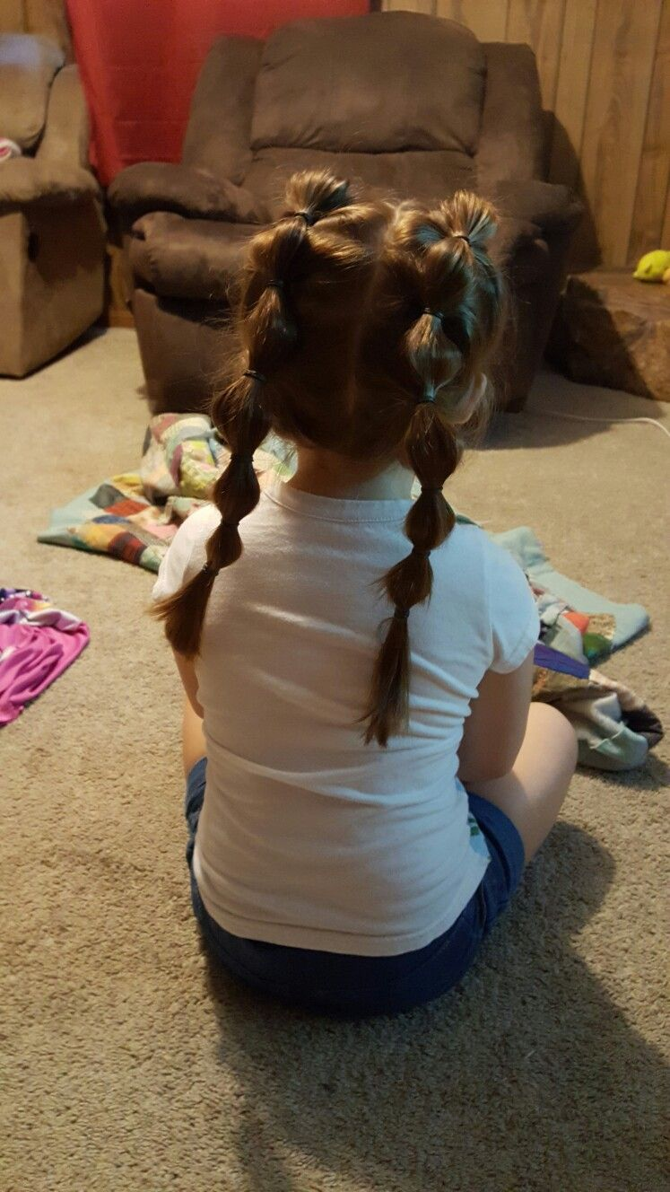 Little girls hairstyle. Bubble pigtails! First day of school hairstyle #firstdayofschoolhairstyles
