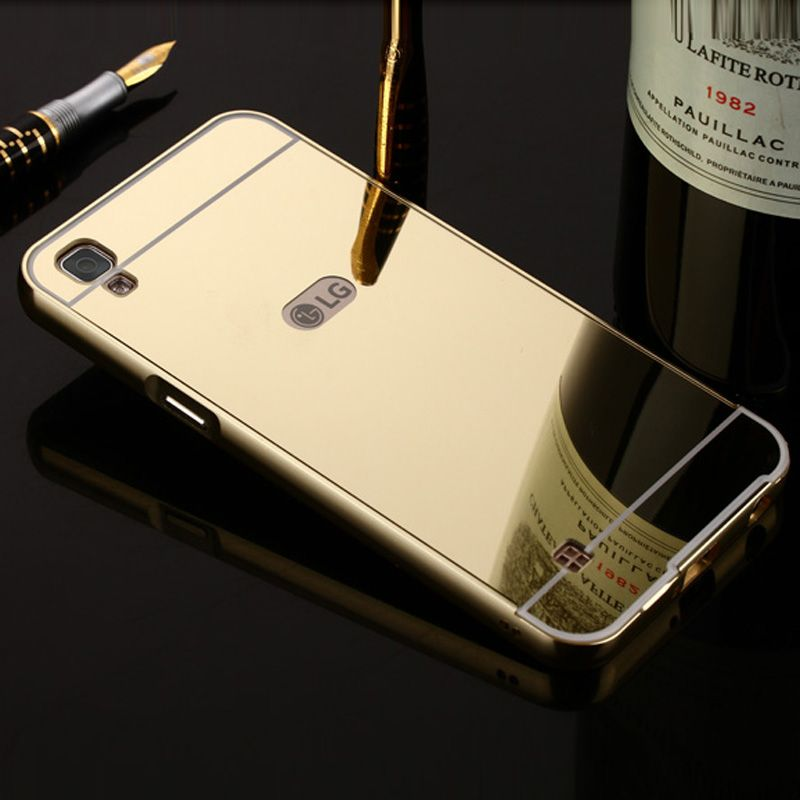 For Lg X Power Cases Cover Aluminum Phone Metal Frame Acrylic Back