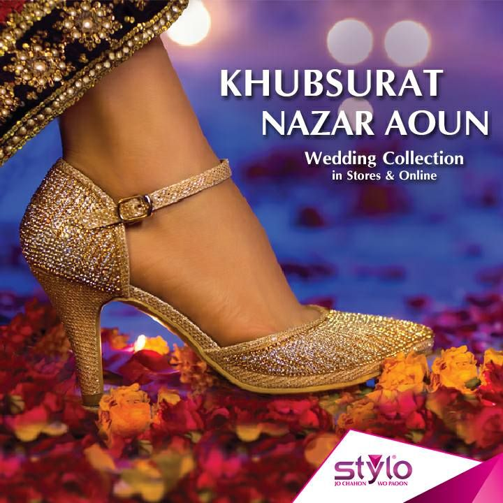 Bridal Shoes Stylo: Latest Wedding Shoes 2017 For Brides In Pakistan 16