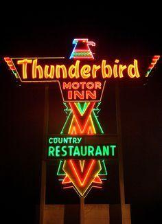 Thunderbird Motor Inn Florence Sc Vintage Neon Signs