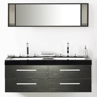 quartet 1400mm wall mount vanity unit in 2019 bathroom bathroom rh pinterest com