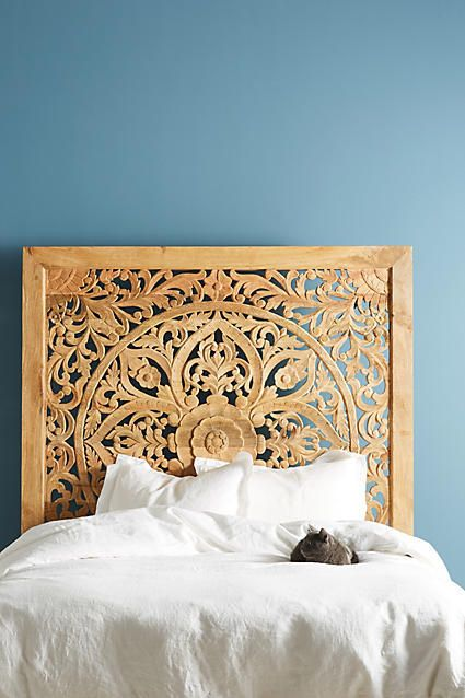 Anthropologie Lombok Bed Handcarved From Solid Mango Wood This Elegant Frame Is A True Work Of Art Its Filigree Inspired Cutouts Create Lively