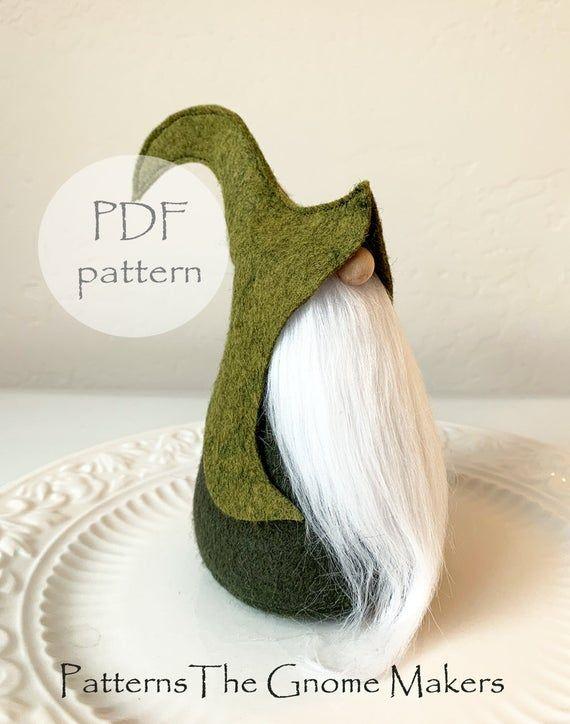 Eflin Gnome Pattern, DIY Gnome Pattern, DIY Gnome Gifts, Scandinavian Gnome, DIY Gifts, Nordic Gnome Pattern, Gnomes, Nisse Pattern, Tomte