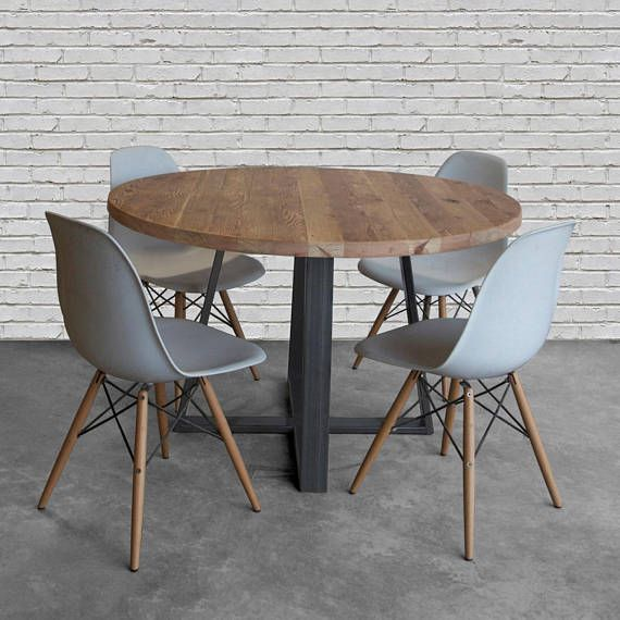 Round Dining Table Cafe Table Round Wood Table In Reclaimed Wood