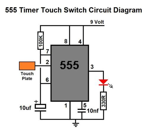 555 timer touch switch diy circuit kit electronics and electrical555 timer touch switch diy circuit kit