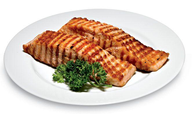 Grilled salmon steak recipes mens health healthy eating grilled salmon steak recipes mens health forumfinder Choice Image